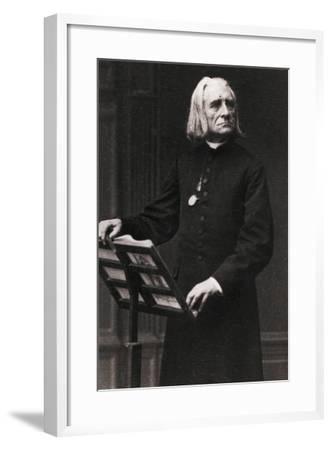 Portrait of Composer Franz Liszt--Framed Photographic Print