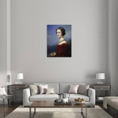 Portrait of Cornelia Vetterlein, 1828 Giclee Print by Joseph Karl ...