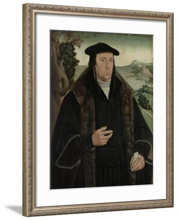 Portrait of Cornelis Aerentsz Van Der Dussen-Jan van Scorel-Framed Art Print