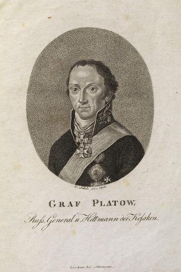 Portrait of Count Matvei Ivanovich Platov (1757-181)-Karl Friedrich Schulz-Giclee Print