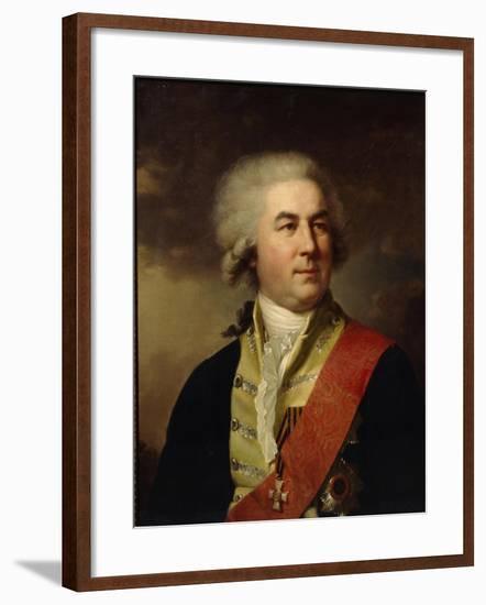 Portrait of Count Pyotr Zavadovsky-Johann-Baptist Lampi the Younger-Framed Giclee Print