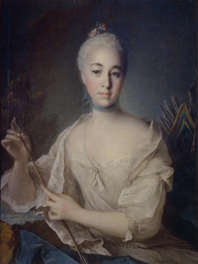 Portrait of Countess Anna Vorontsova (1743-176), Ca 1758-Louis Tocqué-Giclee Print