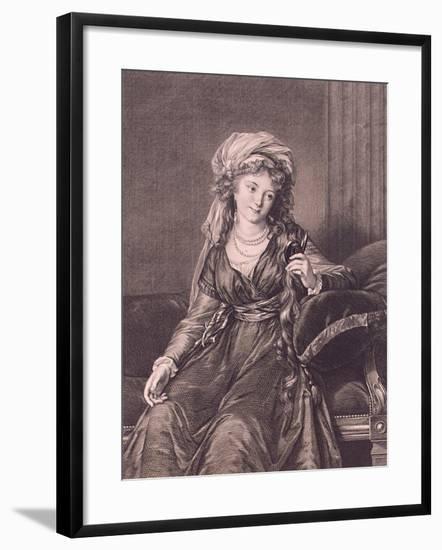 Portrait of Countess Yekaterina Skavronskaya, Née Von Engelhardt (1761-182), 1791-Guglielmo Morghen-Framed Giclee Print