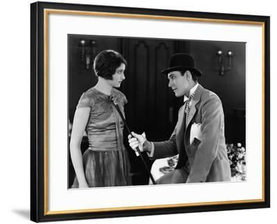 Portrait of Couple Interacting--Framed Photo