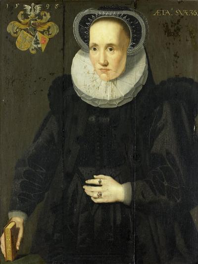 Portrait of Cunera Van Martena, Wife of Rudolph Van Buynou-Adriaen van Cronenburg-Art Print