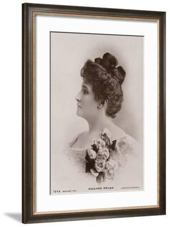Portrait of Dame Nellie Melba--Framed Photographic Print
