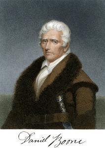 Portrait of Daniel Boone, with His Signature