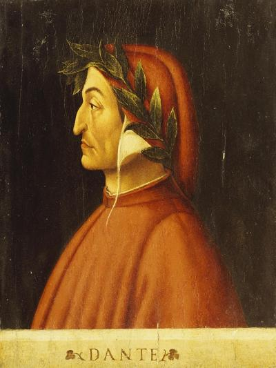 Portrait of Dante-Domenico Ghirlandaio-Giclee Print