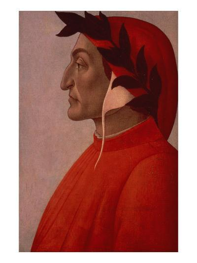 Portrait of Dante-Sandro Botticelli-Giclee Print