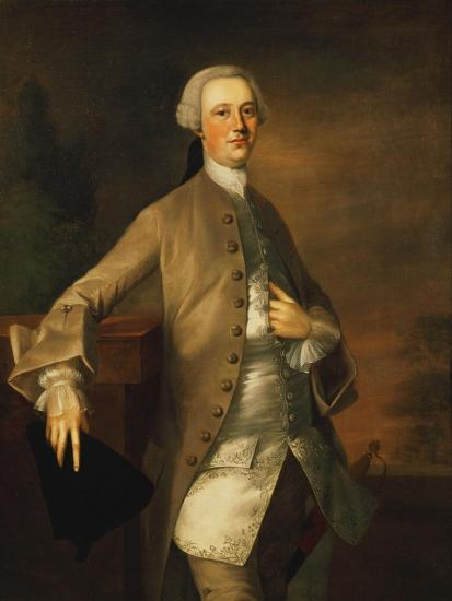 Portrait of David Garrick-Thomas Gainsborough-Giclee Print