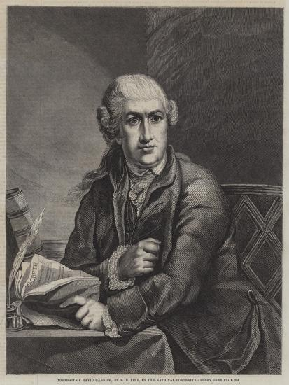 Portrait of David Garrick-Robert Edge pine-Giclee Print