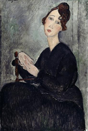Portrait of Dedie (Odette Hayden)-Amedeo Modigliani-Giclee Print