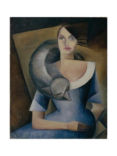 Portrait of Demidova, 1920s-Yelena Mikhailovna Bebutova-Giclee Print