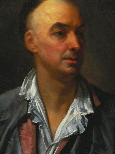 Portrait of Denis Diderot, Bust-Length, Wearing an Open, Lace-Collared, Shirt and Jacket-Jean-Baptiste Greuze-Giclee Print