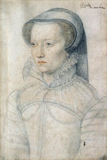 Portrait of Diane De Clermont, Demoiselle Montlaur - by Francois Clouet--Giclee Print