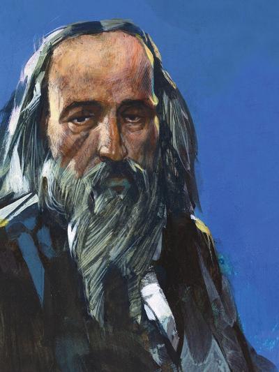 Portrait of Dmitri Ivanovich Mendeleev (Tobolsk, 1834-St Petersburg, 1907), Russian Chemist--Giclee Print