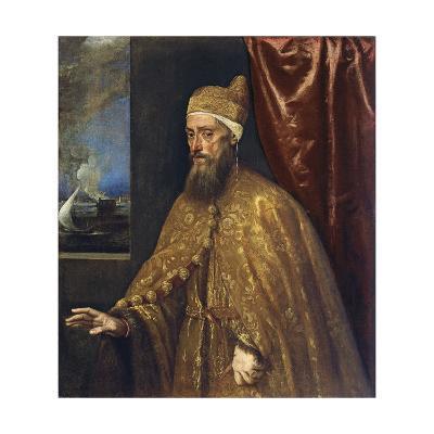 Portrait of Doge Francesco Venier-Titian (Tiziano Vecelli)-Giclee Print