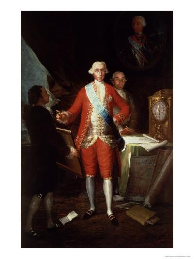 Portrait of Don Jose Monino Y Redondo I, Conde de Floridablanca, 1783-Francisco de Goya-Giclee Print