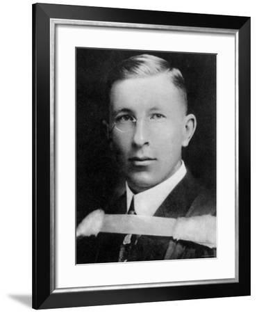 Portrait of Dr. Frederick Banting, Canadian Physician Who Discovered Insulin--Framed Premium Photographic Print