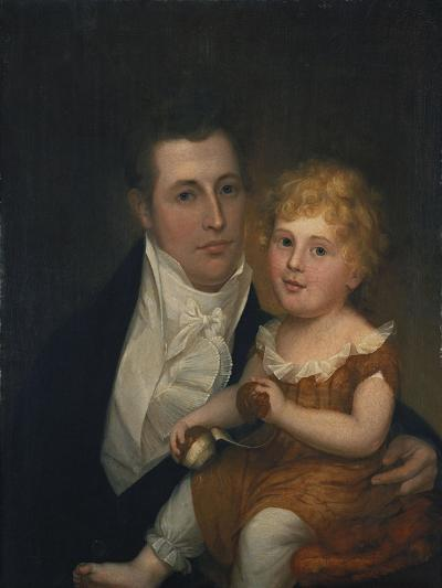 Portrait of Dr. Samuel Simes and His Daughter, Mary Jane-Thomas Birch-Giclee Print
