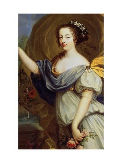 Portrait of Duchess De La Valliere as Flora, 17th Century-Pierre Mignard-Giclee Print