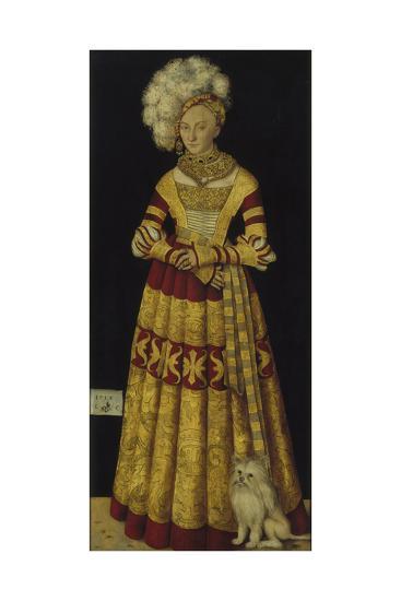 Portrait of Duchess Katharina Von Mecklenburg, 1514-Lucas Cranach the Elder-Giclee Print