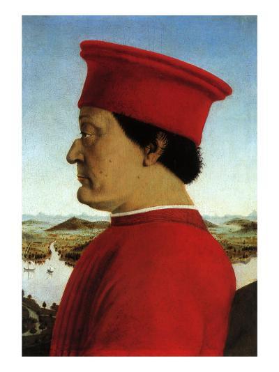 Portrait of Duke, 1465-Piero della Francesca-Giclee Print