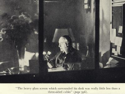 Portrait of Edgar Wallace at His Desk--Photographic Print