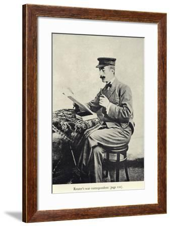 Portrait of Edgar Wallace--Framed Photographic Print
