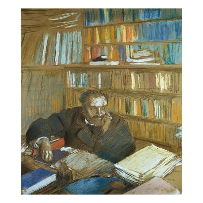 Portrait of Edmond Duranty-Edgar Degas-Giclee Print