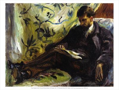 Portrait of Edmond Maitre (The Reader), 1871-Pierre-Auguste Renoir-Art Print
