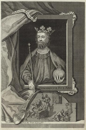 Portrait of Edward II of England--Giclee Print