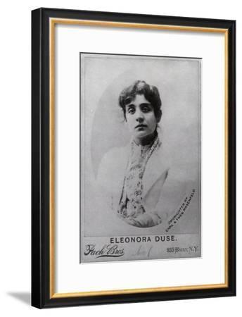 Portrait of Eleonora Duse, c.1898--Framed Giclee Print