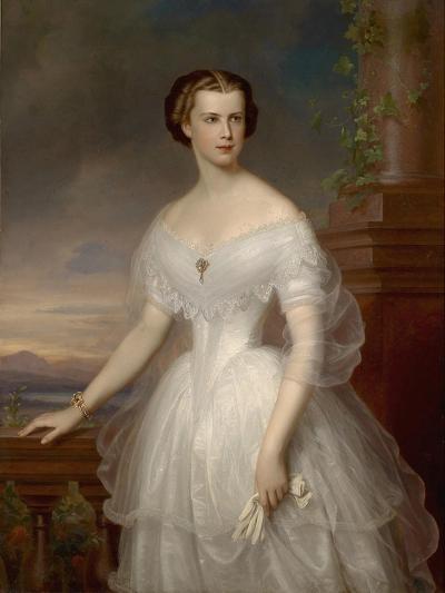 Portrait of Elisabeth of Bavaria-Franz Schrotzberg-Giclee Print