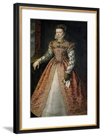 Portrait of Elisabeth of Valois--Framed Giclee Print