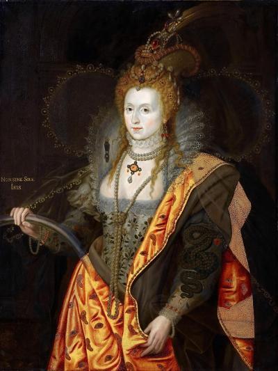 Portrait of Elizabeth I of England, in Ballet Costume as Iris-George Peter Alexander Healy-Giclee Print