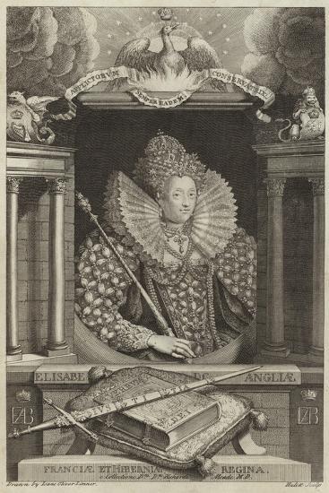 Portrait of Elizabeth I of England--Giclee Print