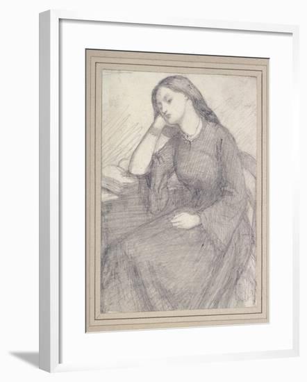 Portrait of Elizabeth Siddal, Seated-Dante Gabriel Charles Rossetti-Framed Giclee Print