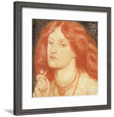 Portrait of Elizabeth Siddal-Dante Gabriel Rossetti-Framed Giclee Print