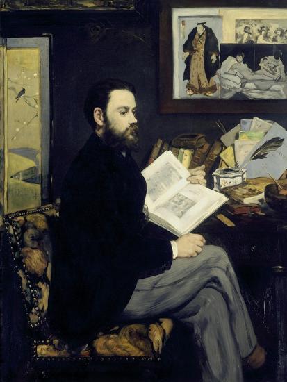 Portrait of Emile Zola-Edouard Manet-Giclee Print