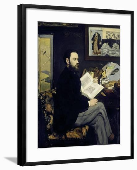 Portrait of Emile Zola-Edouard Manet-Framed Giclee Print