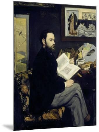 Portrait of Emile Zola-Edouard Manet-Mounted Giclee Print