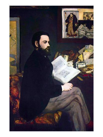 Portrait of Emile Zola-Edouard Manet-Art Print