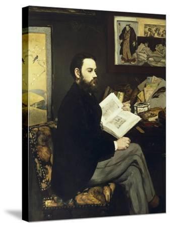 Portrait of Emile Zola-Edouard Manet-Stretched Canvas Print