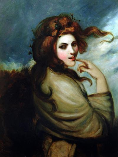 Portrait of Emma Hamilton (C.1765-1815)-George Romney-Giclee Print