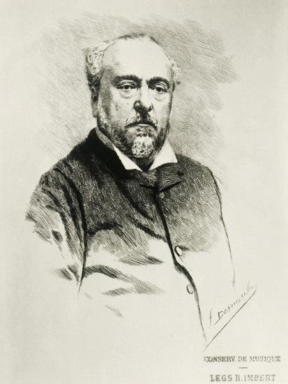 Portrait of Emmanuel Chabrier, French Composer--Giclee Print