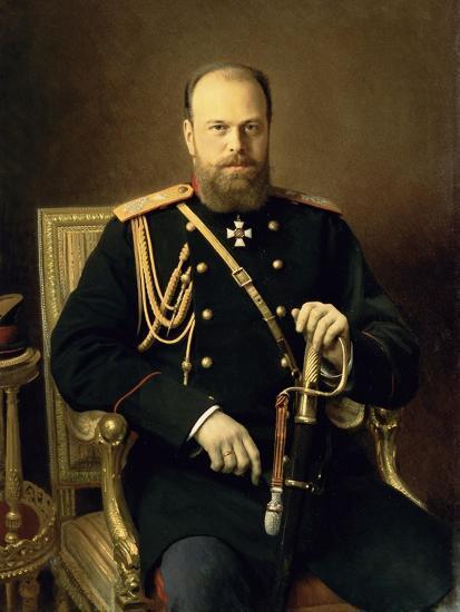 Portrait of Emperor Alexander III-Ivan Nikolaevich Kramskoy-Giclee Print