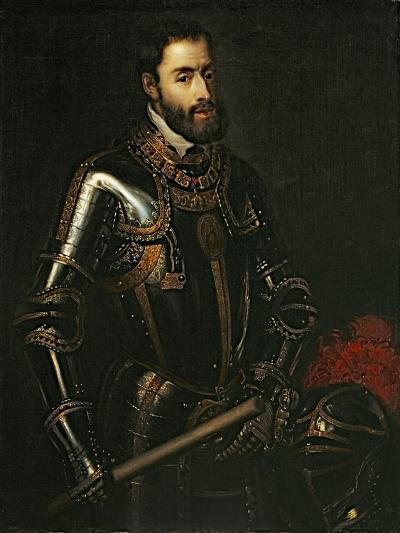 Portrait of Emperor Charles V, after a Painting by Titian, C.1603-Titian (Tiziano Vecelli)-Giclee Print