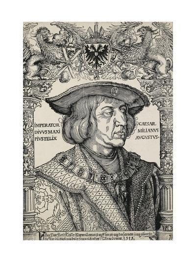 Portrait of Emperor Maximilian I, C. 1519-Albrecht D?rer-Giclee Print