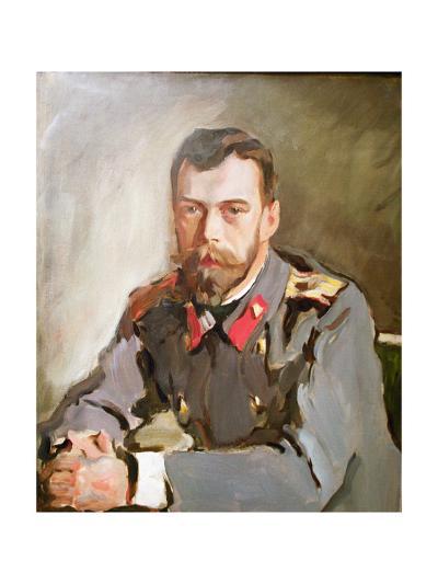 Portrait of Emperor Nicholas II, 1900-Valentin Aleksandrovich Serov-Giclee Print